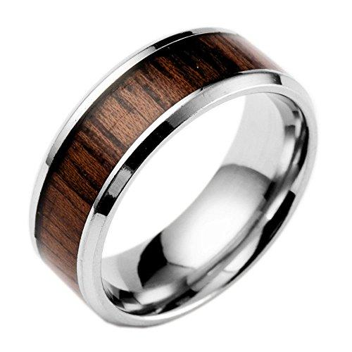 Ostory ファッション 個性的な コアの木 リング サージカルステンレス 指輪 メンズ アクセサリー