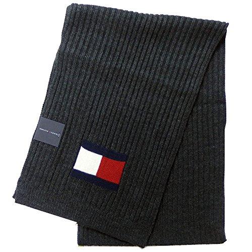 トミーヒルフィガー TOMMY HILFIGER マフラー Knit Logo Scarf H8C73220 (チャコール) [並行輸入品]