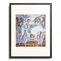 作者不明 (フレスコ画) 「Abraham entertaining the angels.」 額装アート作品