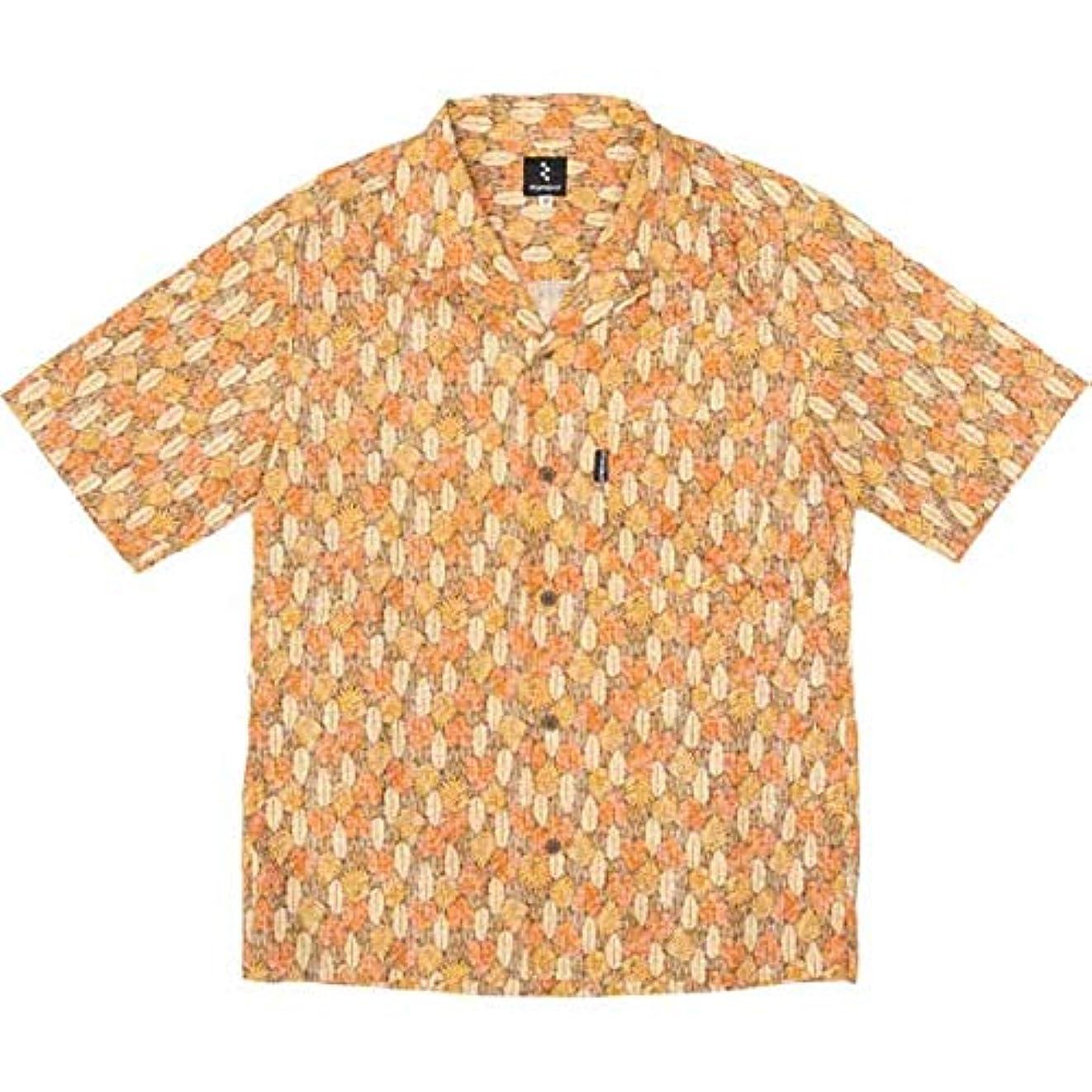 バックグラウンド幾何学煙リンプロジェクト 【2146】 サイクリストアロハ リーフ オレンジ S
