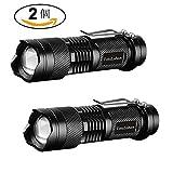 【超お得な2個セット】 TotaLohan 超小型・軽量 高輝度LED懐中電灯 強力 防災 防犯 釣り Q5 LED ハンディライト ズーム機能付き