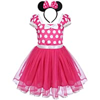 FYMNSI Baby Girls Polka Dots Princess Ballet Tutu Dress Birthday Party Pageant Dress up Costume Outfits with Headband