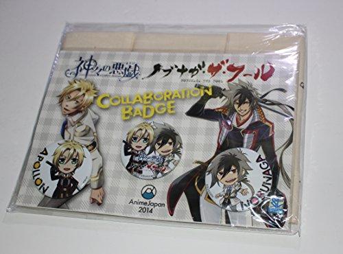 AnimeJapan 限定 神々の悪戯 × ノブナガ・ザ・フール 缶バッジ&トートバッグ セット コラボ カズキヨネ