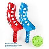 enshey fun-air ScoopボールスクープとボールToss Set Toss Catch GameトラックボールSport Tracボールラクロスラケットゲームプラスチックラクロス活動向上、手目コーディネーションの芝生キャンプ、&ビーチ