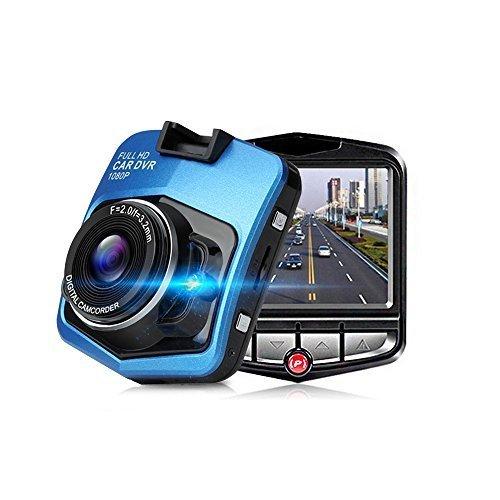 TmDeken ドライブレコーダー スタンダード 170度広角レンズ 1080P フルHD 1200万画素 2.4インチ Gセンサー搭載 移動体検視 駐車監視 常時録画 ブルー