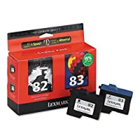 Lexmark 82 Black & 83 Color Ink Cartridge Combo Pack (18L0860) [並行輸入品]