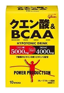 グリコパワープロダクションクエン酸酸&BCAA ハイポトニック粉末ドリンク グレープフルーツ風味 1袋 (12.4g) 10袋