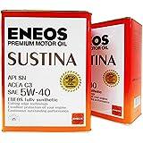 ENEOS (エネオス) SUSTINA (サスティナ) エンジンオイル SN 5W-40 (100%化学合成油) 4L×2缶セット