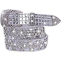 Women's Fashion PU Waist Bling Belts