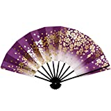舞扇子 1307 黒塗 9寸5分 扇子箱入 踊り用 (紫)