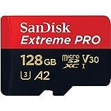 microSDXC 128GB SanDisk サンディスク Extreme PRO UHS-1 U3 V30 4K Ultra HD A2対応 SDアダプター付 [並行輸入品]