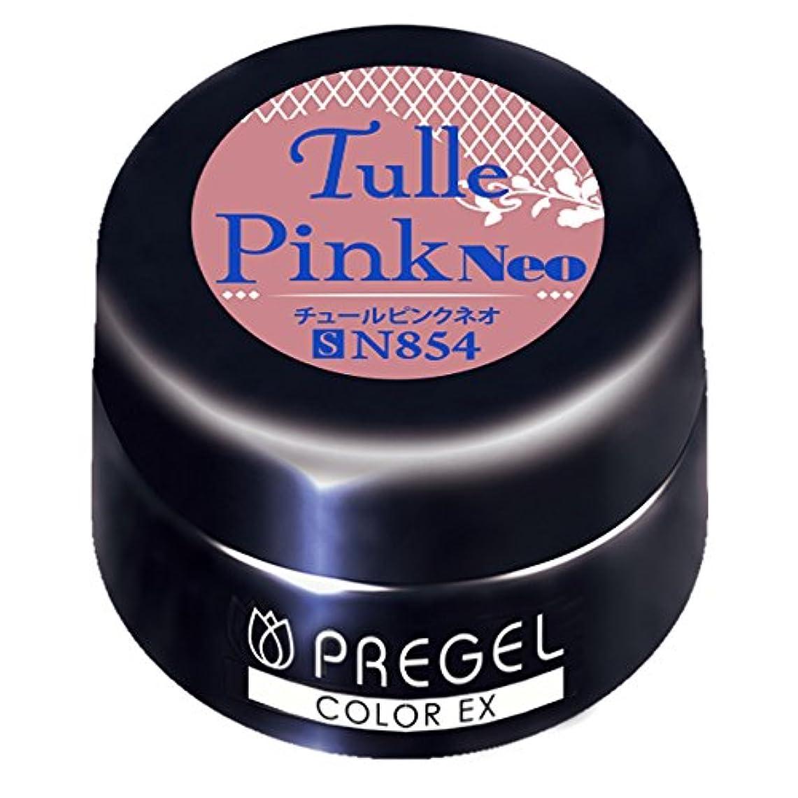 コットン権利を与えるあいにくPRE GEL カラーEX チュールピンクneo854 3g UV/LED対応