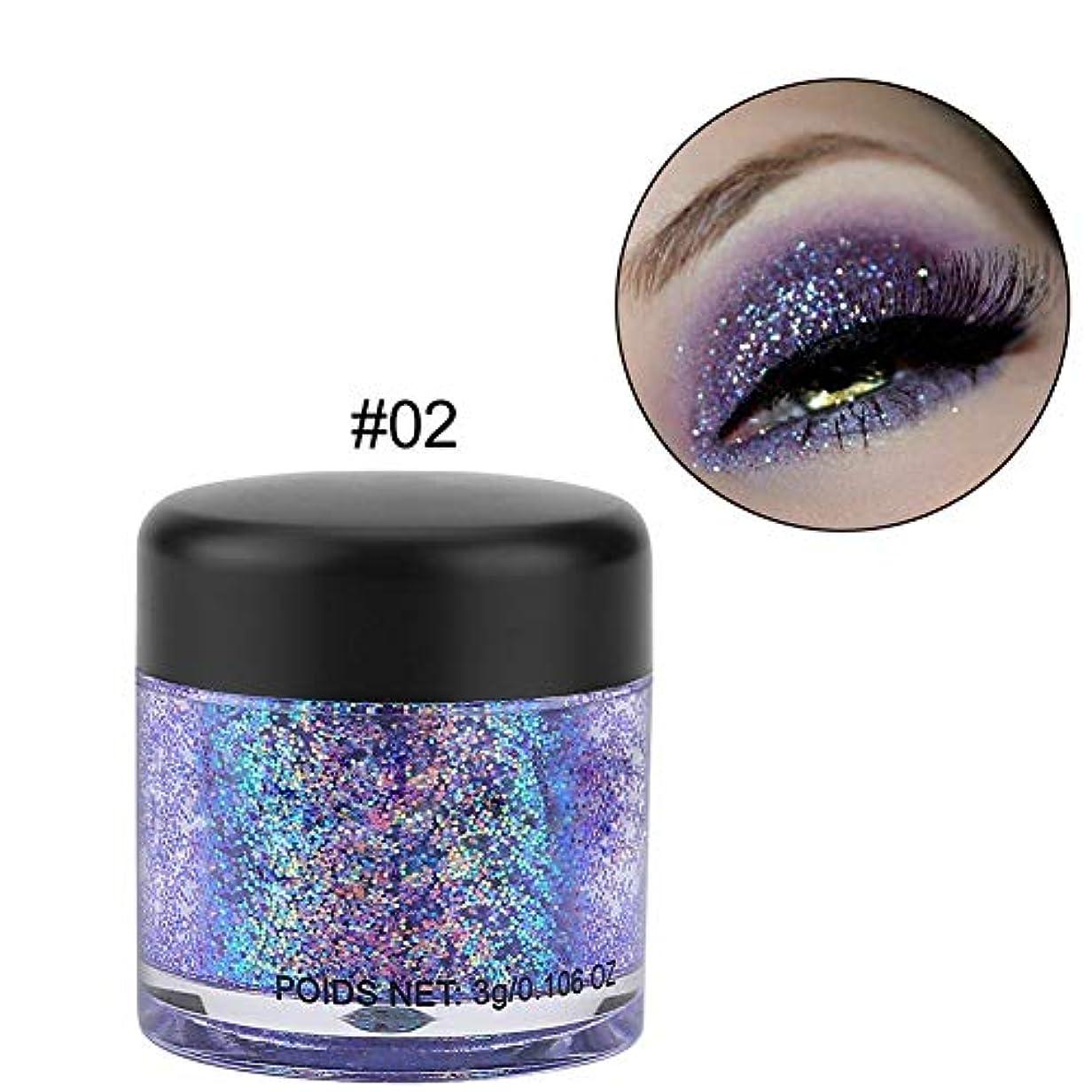 過度に急流ガラスアイシャドーパウダー、10色 ギャラクシーマジックアイシャドウ 美しい目 口や 髪も適当(2)