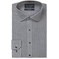 Van Heusen Men's Euro Tailored Fit Micro Check Shirt