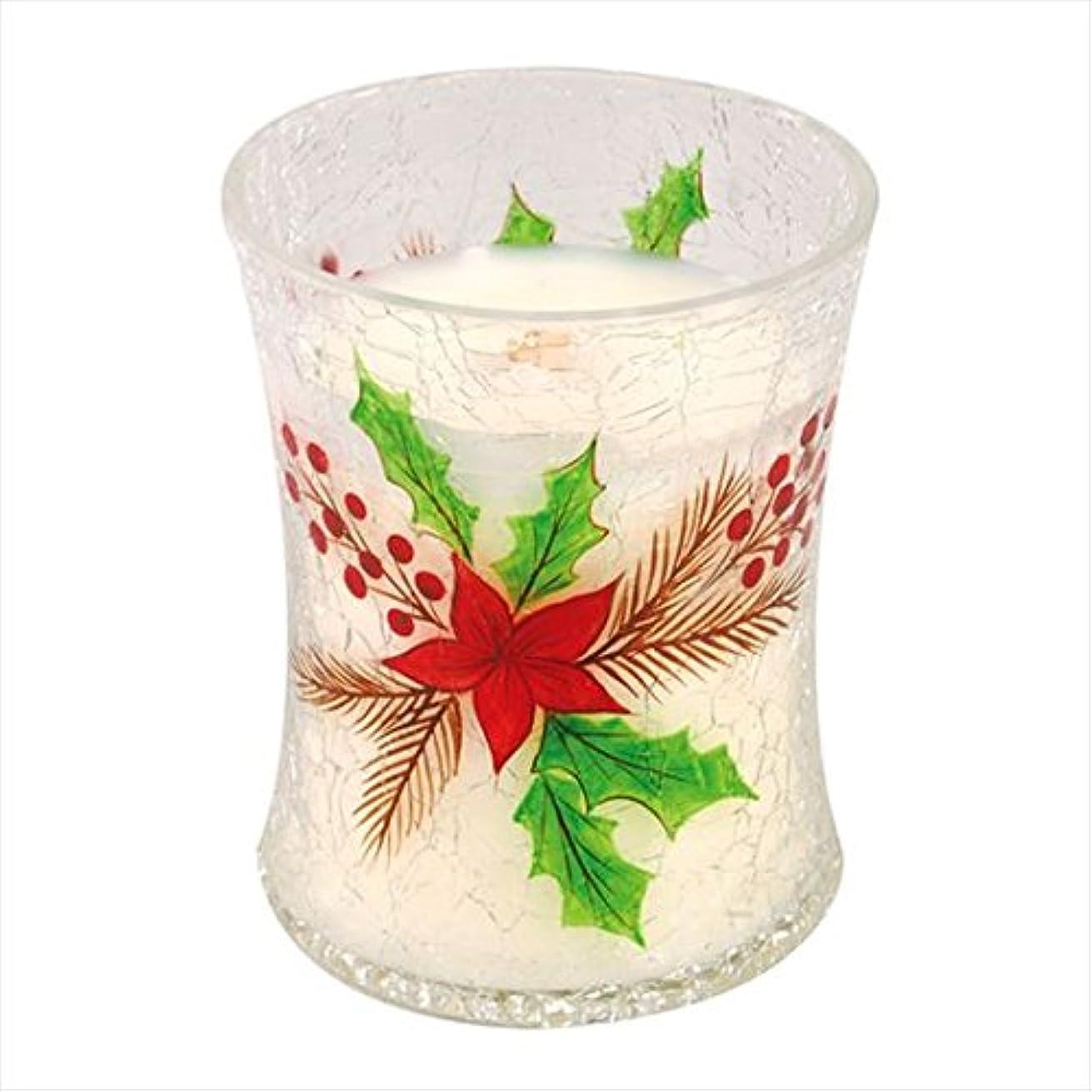 木材生ぼかしウッドウィック(WoodWick) Wood WickディーカルクラックジャーM 「 クリスマスケーキ 」