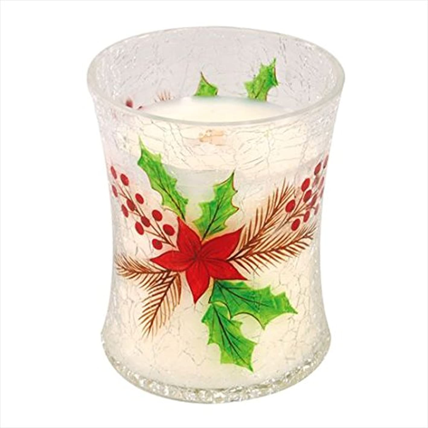 ハントデザイナームスウッドウィック(WoodWick) Wood WickディーカルクラックジャーM 「 クリスマスケーキ 」