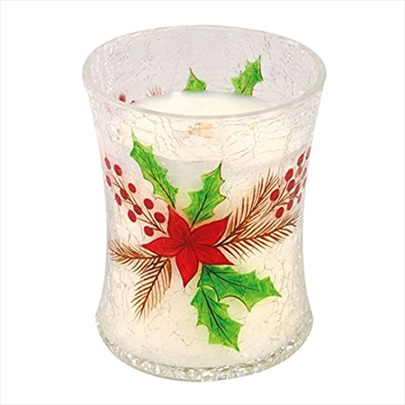 実り多いイチゴ良心ウッドウィック(WoodWick) Wood WickディーカルクラックジャーM 「 クリスマスケーキ 」