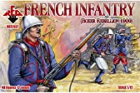 PLASTIC MODEL FIGURES French Infantry 1900 48 FIGURES IN 12 POSES 1/72 RED BOX 72027