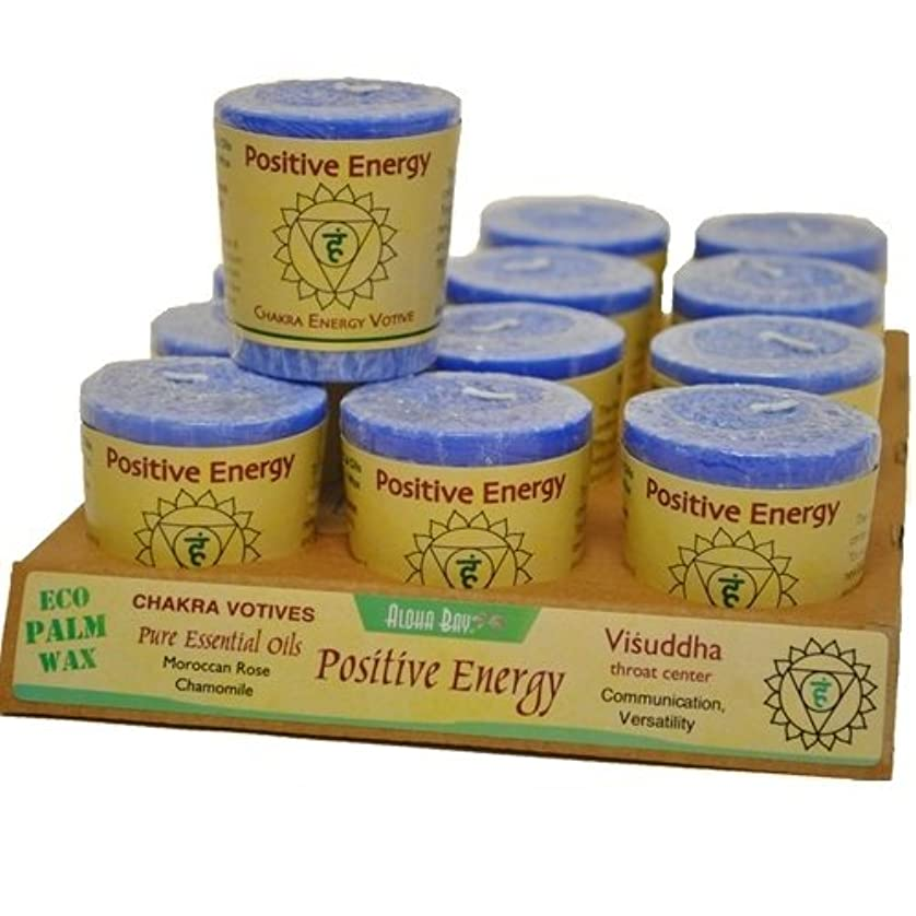 時代よろめく申請者Aloha Bay Chakra Votive Candle - Positive Energy - Case of 12 - 2 oz
