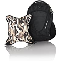 Obersee Oslo Diaper Bag Backpack with Detachable Cooler, Black/Camo by Obersee