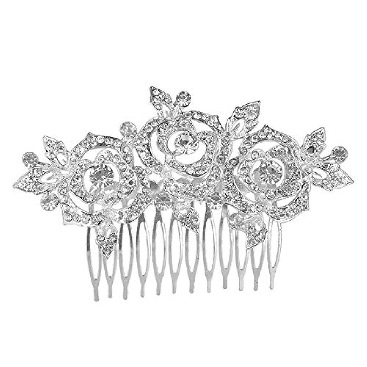 の配列根絶する誠実髪の櫛挿入櫛花嫁の髪櫛クラウン髪の櫛結婚式の付属品櫛の髪の櫛花の櫛の櫛ブライダルヘッドドレス