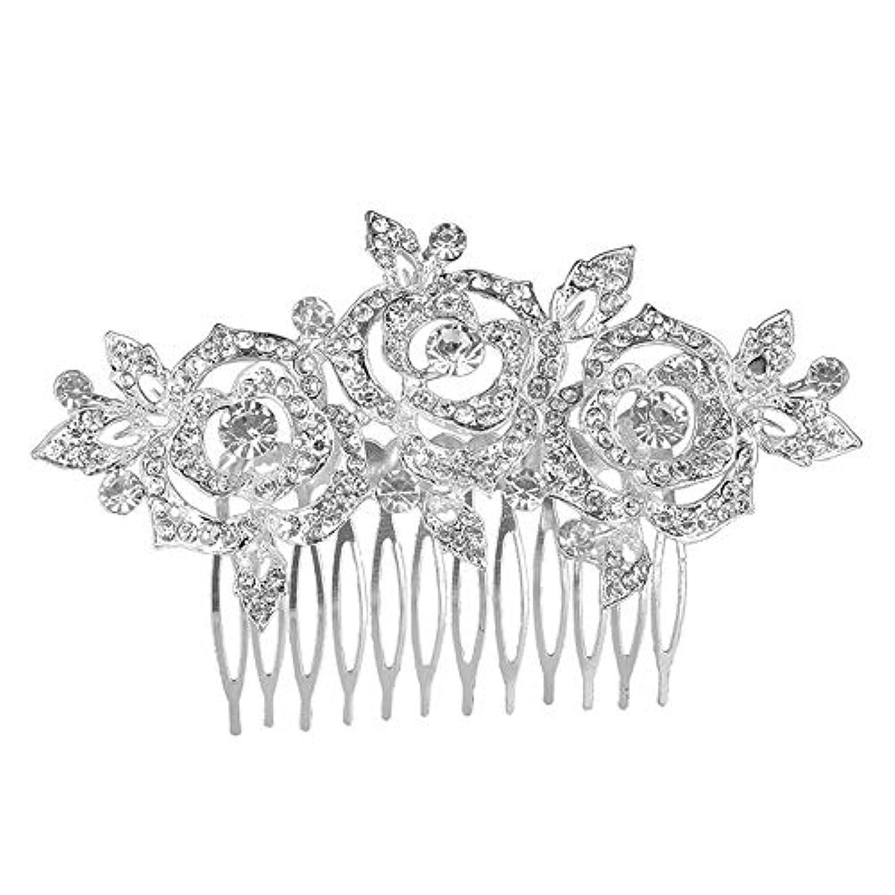 フルートどちらも風髪の櫛挿入櫛花嫁の髪櫛クラウン髪の櫛結婚式の付属品櫛の髪の櫛花の櫛の櫛ブライダルヘッドドレス