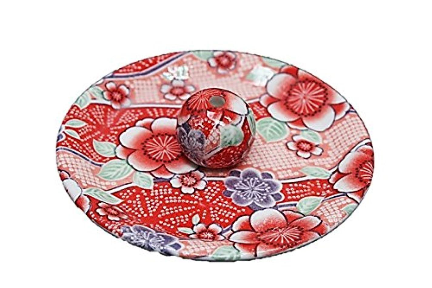 まとめるフォーマル領事館9-15 紅染 9cm香皿 お香立て お香たて 陶器 日本製 製造?直売品