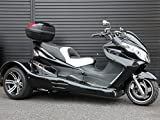 IceBear(アイスベアー) トライク 250cc水冷エンジンバック付 三輪バイク 大型スクータートライク 黒 HL250SB