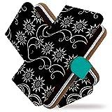 Galaxy S10 SC-03L ケース 手帳型 エスニック 黒 太陽 手帳 カバー ギャラクシー エス10 エスシー03エル sc03lケース sc03lカバー 手帳型ケース 手帳型カバー アジアン ファッション [エスニック 黒/t0755]