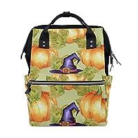 ママバッグ マザーズバッグ リュックサック ハンドバッグ 旅行用 ハロウィン パンプキン 魔女帽子 ファション