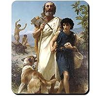 ホーマーギリシャ詩人作成者Occident Homeric Hymns Painting William Bouguereau 1874–マウスパッド/マウスパッド