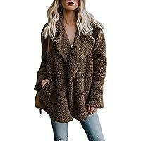 ZHENWEI Women's Fashion Faux Fur Coats Warm Winter Coats