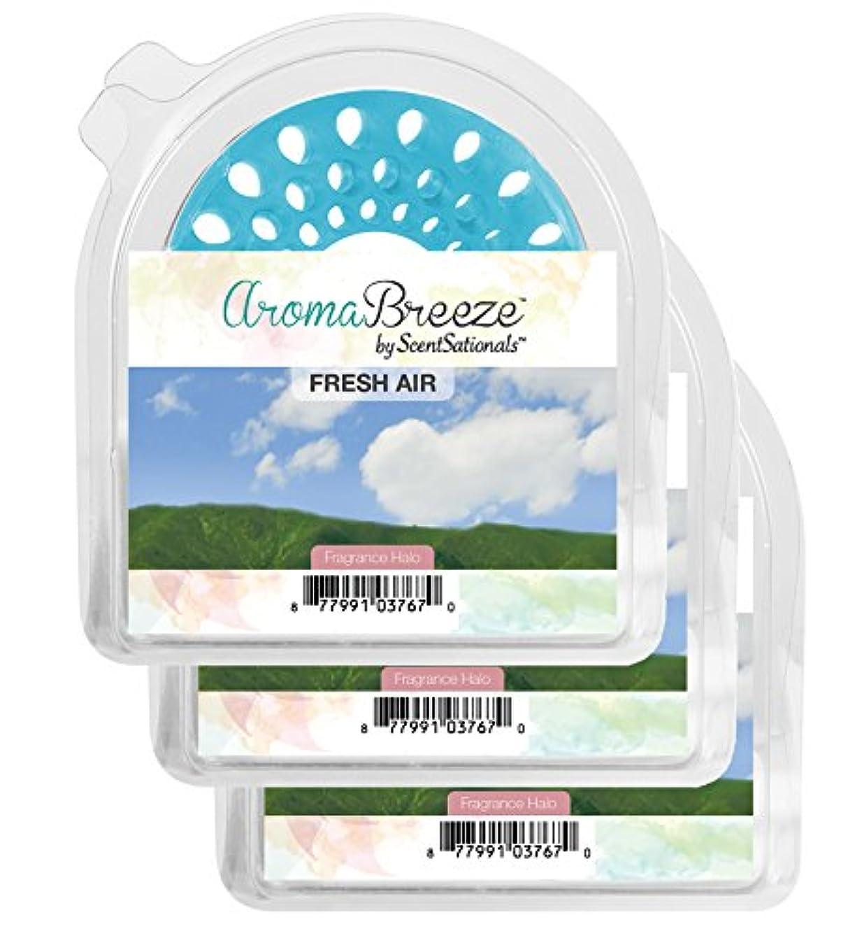 ラッシュ活性化するクリークZen Aroma Breeze 香り付きヘイロー 3個パック - 無炎の香り付きキャンドルの交換用 - ご自宅の香りコレクションに加えるのに最適 ブルー 021-017-40010