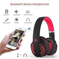 Bluetoothヘッドセット、beexcellent軽量&快適なワイヤレスステレオBluetooth 4.1ヘッドセット音楽ヘッドホン3.5MMオーディオFoldingイヤフォンW / Mic forスマートフォンPCタブレット