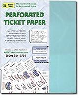 Perforatedチケット用紙(ブルー24lb Bond )