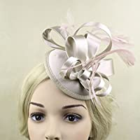 結婚式 パーティー サテン 羽 花嫁 魅惑的 ヘアクリップ 髪飾り コサージュ シャンパン 全5色