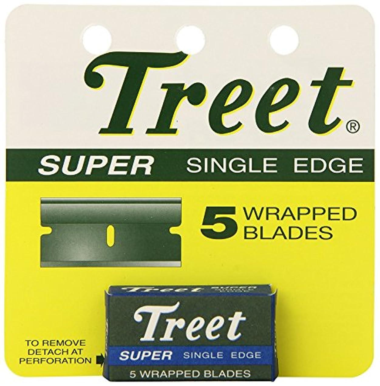 ハイキングに行くブレス粉砕するTreet スーパー シングル ブレード 替刃 5枚入り [並行輸入品]