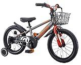 アイデス (ides) D-bikemaster (ディーバイクマスター) 16インチ 子ども用 キッズ 自転車 幼児車 BMXタイヤ 簡単着脱 1本スタンド+補助車+バスケット付きモデル シルバー シルバー 16インチ