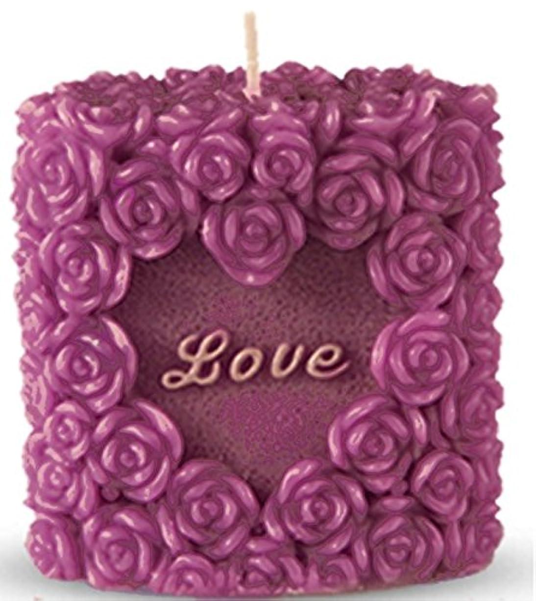大砲誇張する取り組む(Valentine Package) - Romantic Love Candle, Rose Design, Smokeless, Elegant, Non-Drip, Fragrant, Rosy and Premium...