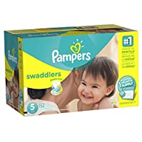 Pampers Swaddlers Diapers, Size 5, One Month Supply, 152 Count (Packaging May Vary) by Pampers