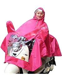 雨具 防水 女性用 通学 便利 ローズレッド 厚い 乗る レインコート 女性 電気自動車 大人 ポンチョ