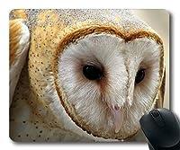 マウスパッド、フクロウデコイフクロウの鳥、縫い目付きマウスパッド