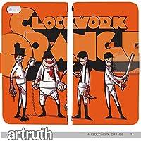 A CLOCKWORK ORANGE 手帳型 Android One X2(G008204_02) 専用 映画 時計じかけのオレンジ pop art センス 個性的 スマホケース