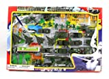Metro Army Military Combat 43 Piece Mini Toy Diecast Vehicle Play Set, Comes with Street Play Mat, Variety of Vehicles