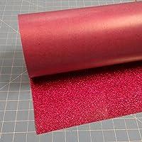 Hot Pink Siser Glitter 50cm x 1.5m Iron on Heat Transfer Vinyl Roll, HTV by Coaches World