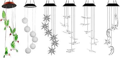 PROKTH 風鈴ライト ソーラー風鈴ライト イルミネーションライト 六つ種類 太陽光充電 夜間自動点灯 色が自動変更 ガーデン 家 玄関前 喫茶店 パーティー 装飾用