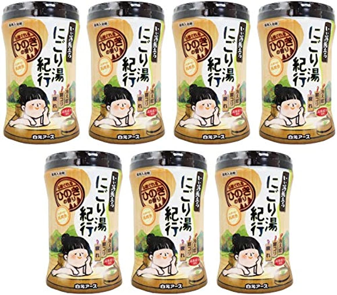 銀提案リー【まとめ買い】いい湯旅立ちボトルにごり湯紀行 ひのきの香り600g【×7個】