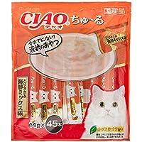 【Amazon.co.jp限定】 チャオ (CIAO) 猫用おやつ ちゅ~る とりささみ 海鮮ミックス味 14g×45本入