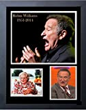 Robin Williams Tribute写真コラージュフレームプリント14x 17