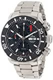 Edoxメンズ011153NINクラス1自動ステンレススチールクロノRotating Bezel Watch